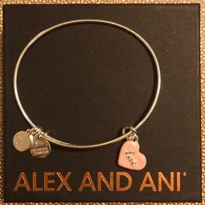 Alex and Ani Pink Heart Love bangle